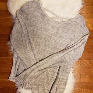 So cross back light weight sweater